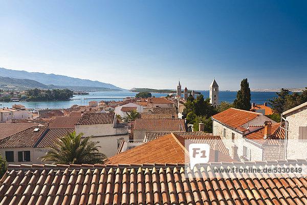Europa 4 Stadt Ansicht Glocke Kroatien Rab
