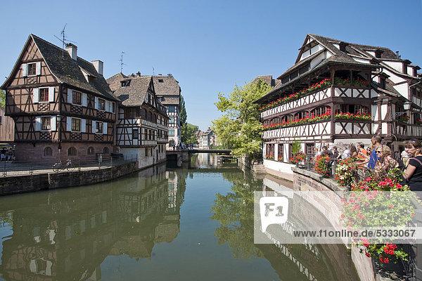 Frankreich Europa Krankheit Restaurant Fluss Elsass rechts Straßburg Frankreich,Europa,Krankheit,Restaurant,Fluss,Elsass,rechts,Straßburg