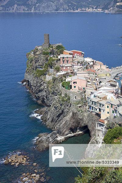Europa UNESCO-Welterbe Cinque Terre Italien Ligurien Halbinsel Provinz La Spezia