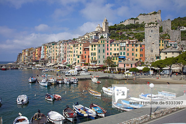 Hafen Europa UNESCO-Welterbe Italien Ligurien Provinz La Spezia