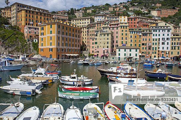 Hafen Europa Dorf angeln Camogli Italien Ligurien