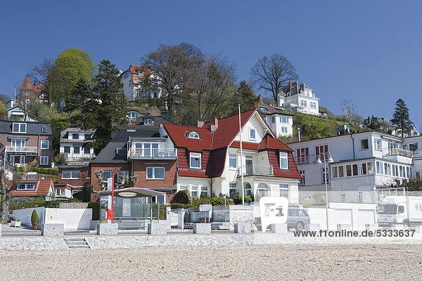 Falkensteiner Strand  Treppenviertel am Süllberg  Blankenese  Hamburg  Deutschland  Europa