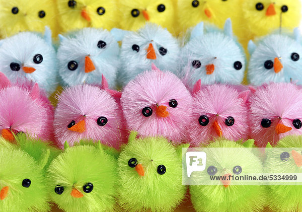 Colourful mini chicks  Easter decorations Colourful mini chicks, Easter decorations