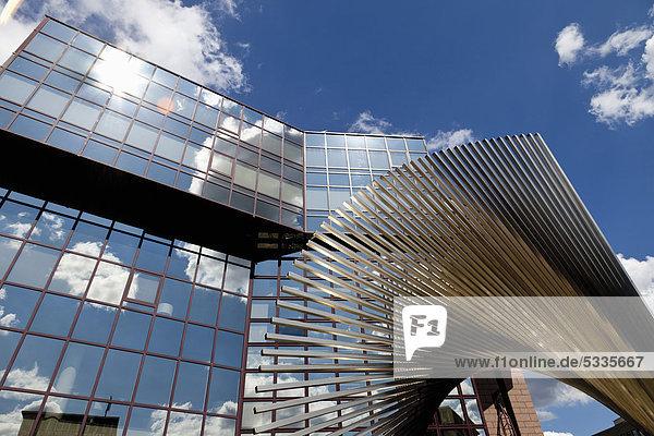 Metall-Skulptur der DZ Bank  Frankfurt am Main  Hessen  Deutschland  Europa