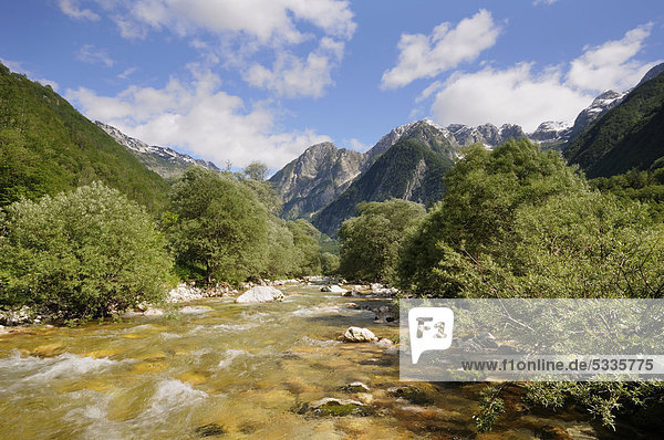 Lepena-Tal  Triglav Nationalpark  Slowenien  Europa
