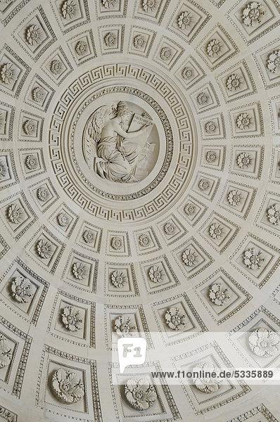 Decke  Detail  des PanthÈon  Paris  Frankreich  Europa