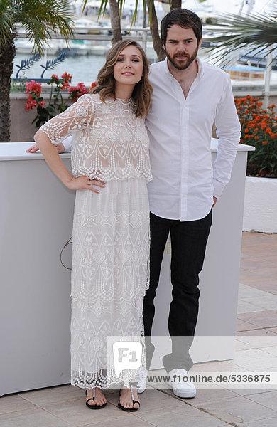 Elizabeth Olsen und Sean Durkin beim Fototermin zu MARTHA MARCY MAY MARLENE  64. Internationale Filmfestspiele von Cannes  Frankreich  Europa