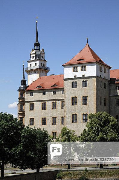 Schloss Hartenfels  Torgau  Sachsen  Deutschland  Europa
