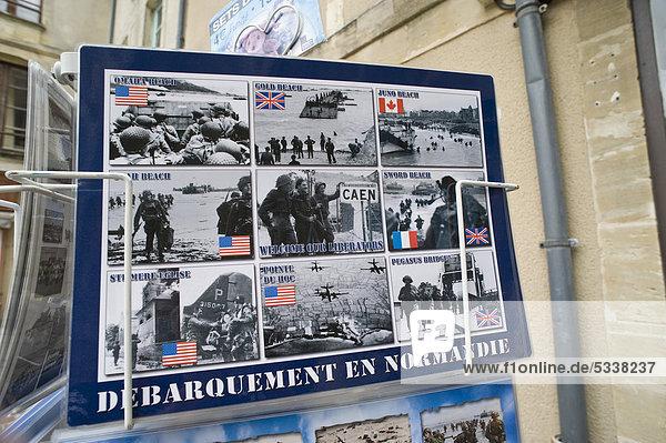Tischset mit Motiven der Landung der Allierten in der Normandie  D-Day  Bayeux  Normandie  Frankreich  Europa