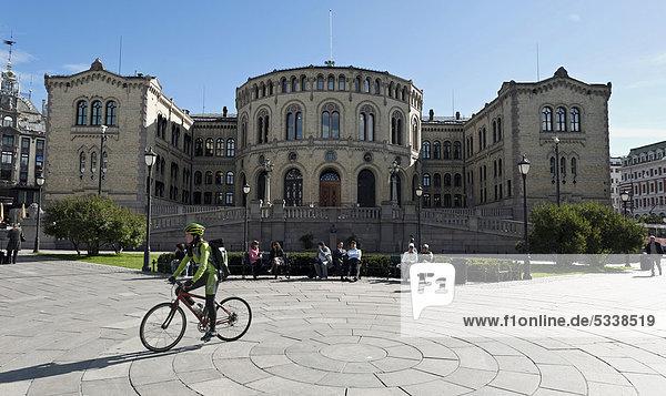 Norwegisches Parlament Storting  Oslo  Norwegen  Skandinavien  Europa