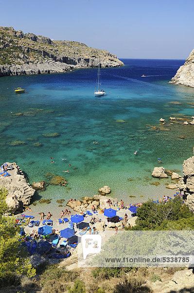 Segeln Europa Schiff Bucht Faliraki Griechenland Rhodos