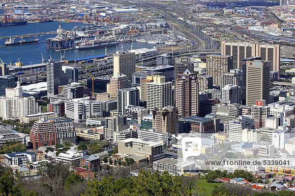 Stadtansicht von Kapstadt  Südafrika  Afrika