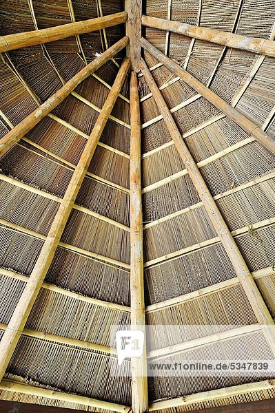 Wooden roof  Nam Dong  Vietnam