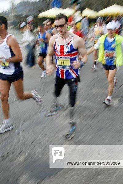 Marathonlauf  Marathon  Marathons  Rom  Hauptstadt  Läufer  Behinderung  britisch