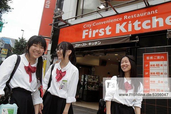 Städtisches Motiv  Städtische Motive  Straßenszene  Straßenszene  Jugendlicher  Symbol  Tokyo  Hauptstadt  Restaurant  Student  Mädchen  Business  Japan  Shinjuku
