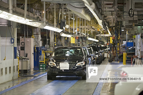 Chrysler's Sterling Heights Assembly Plant  where the Chrysler 200 is manufactured  Sterling Heights  Michigan  USA
