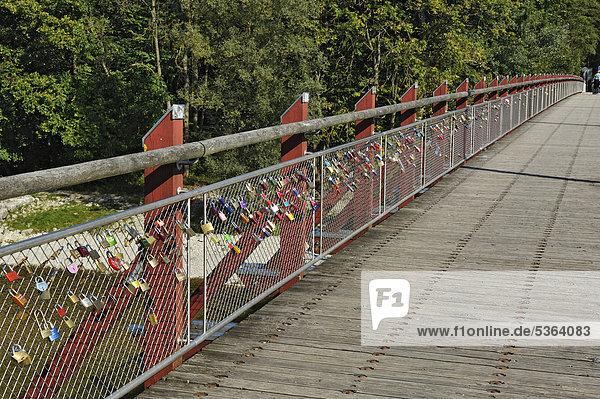 Liebesschlösser an der Thalkirchner-Brücke, München