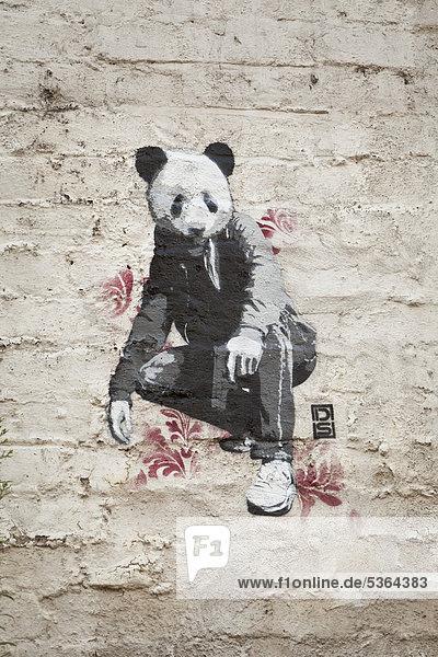 Ein Banksy-Graffiti in London  England  Großbritannien  Europa
