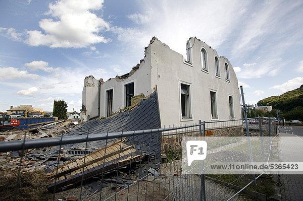 Europa Gebäude Vernichtung Freital Deutschland Sachsen