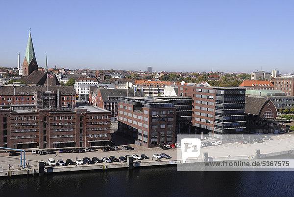 View of Kiel harbour  storehouses  Kiel  Schleswig-Holstein  Germany  Europe