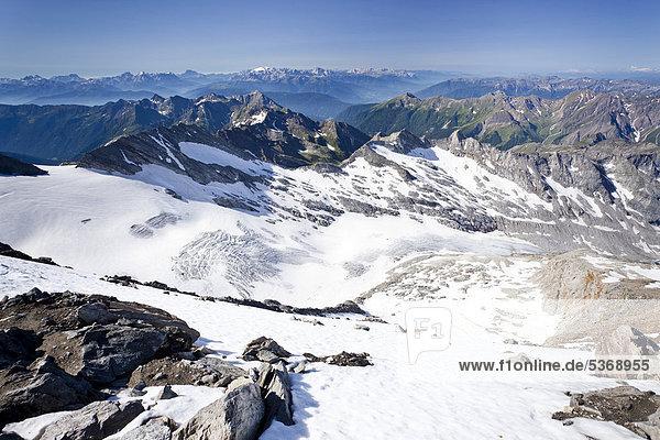 Auf dem Hochfeiler  Pfitschertal  hinten Pfitschertal  hinten Pfitschertal  Eisacktal und Wipptal sowie die Dolomiten  Marmolata  Südtirol  Italien  Europa