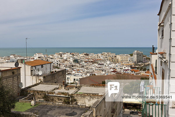 View over Vieste  Apulia  Southern Italy  Italy  Europe
