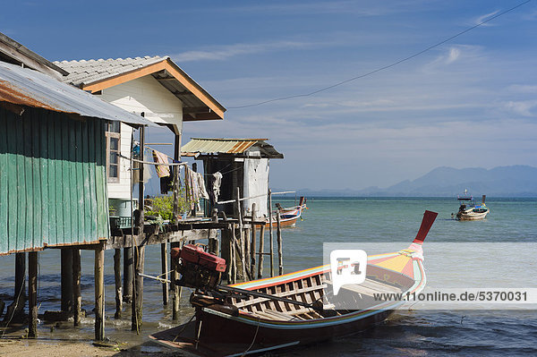 Stilt house in the fishing village  Ko Muk or Ko Mook island  Thailand  Southeast Asia