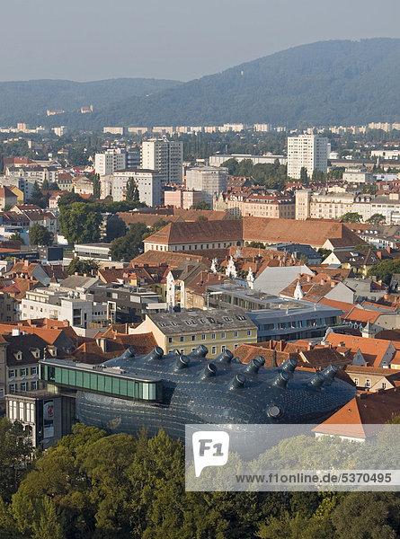 Europa Kunst frontal Museum grasen Österreich Graz