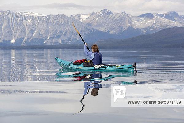 Amerika paddeln Kajakfahrer British Columbia Kanada