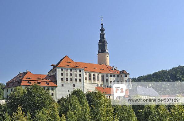 Schloss Weesenstein  Sachsen  Deutschland  Europa