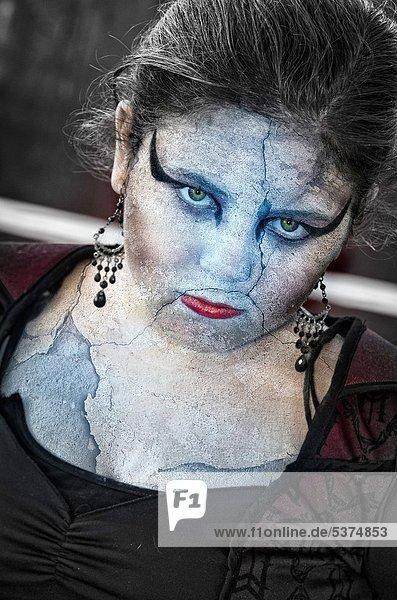 Frau  Stein  sehen  Statue  jung  Kostüm - Faschingskostüm  Halloween