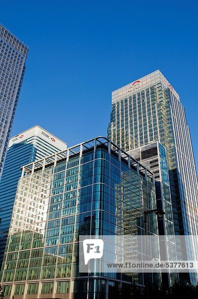 Gebäude am Canada Square in Canady Wharf Bezirk London England UK Europa