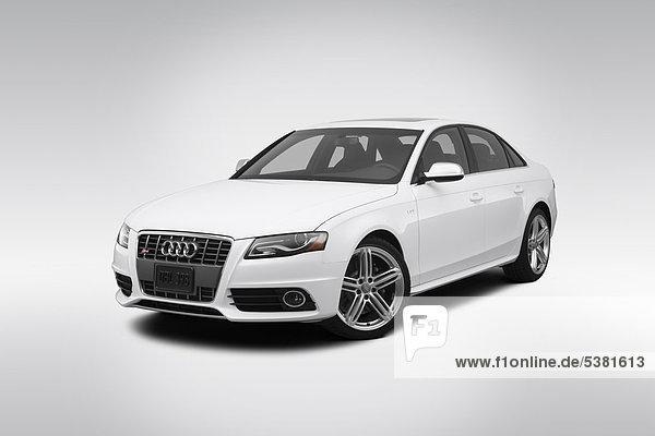 weiß frontal Ansicht Flachwinkelansicht Audi Reichtum Winkel