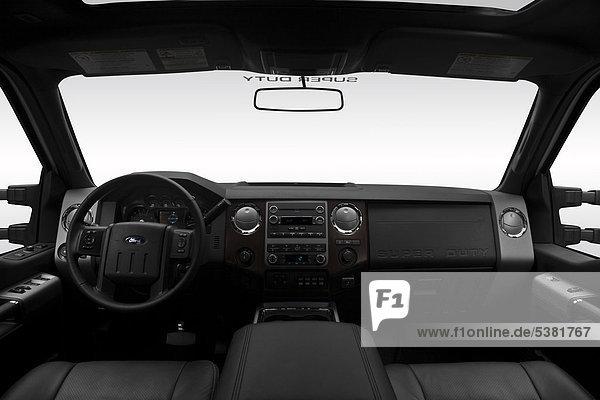 2012 Ford F-250 SD Lariat in weiß - Armaturenbrett  Mittelkonsole  Getriebe Schalthebel anzeigen
