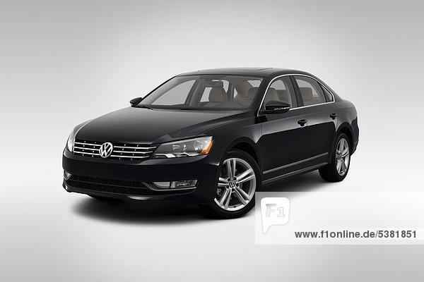 schwarz frontal Ansicht Flachwinkelansicht VW Winkel