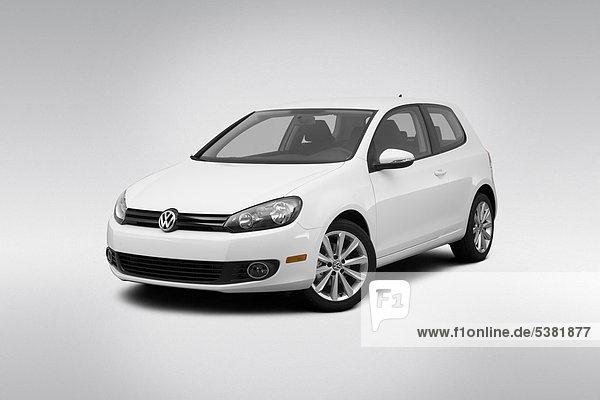 weiß frontal Ansicht Flachwinkelansicht VW Golf Auto Golfsport Golf Winkel