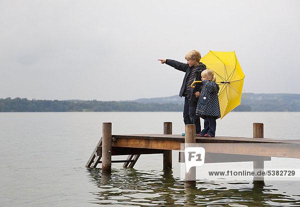Regenschirm  Schirm  gelb  Dock Regenschirm, Schirm ,gelb ,Dock
