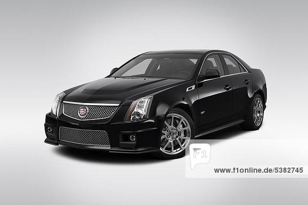 schwarz frontal Ansicht Flachwinkelansicht Cadillac Winkel