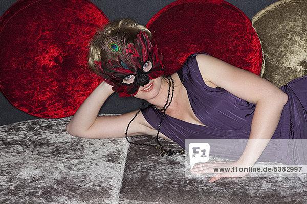 Frau  Kleidung  Maske