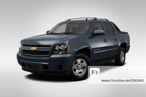 frontal blau Ansicht Flachwinkelansicht Chevrolet Winkel Lawine