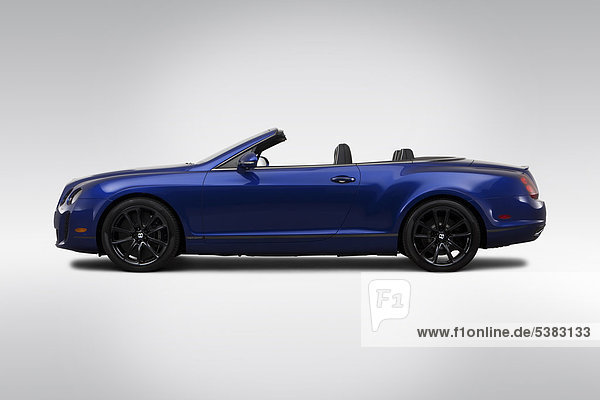 2012 Bentley Continental Supersports in blau - Treiber Seite Profil