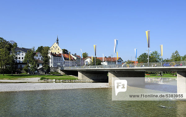 Brücke Kirche Isar