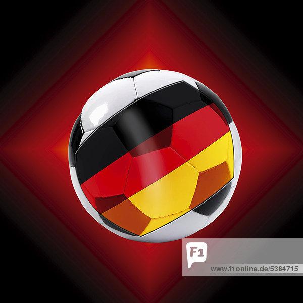 Fußball mit Deutschlandflagge