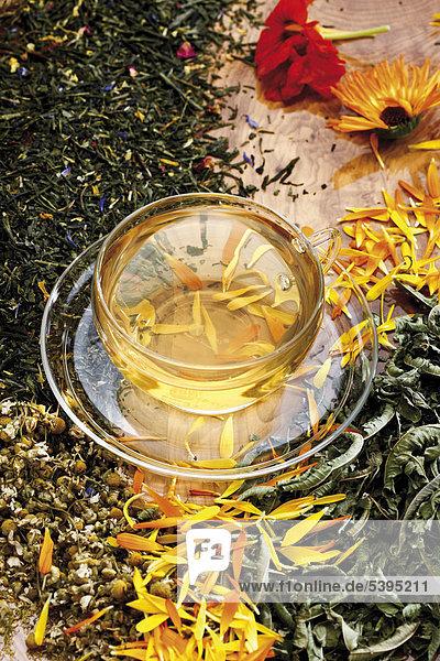 Tee mit verschiedenen Heilpflanzen