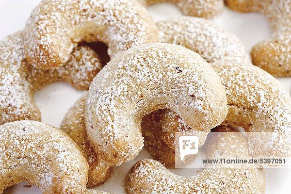 Vanillekipferl Zucker Keks Eiscreme Eis