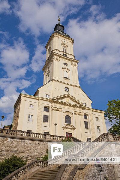 Salvatorkirche auf dem Nicolaiberg in Gera  Thüringen  Deutschland  Europa