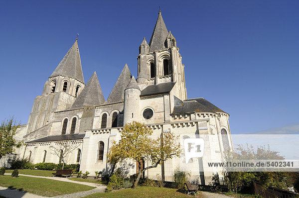 Saint-Ours Kirche  Burgberg  Loches  Gemeinde  Tours  Departement Indre-et-Loire  Centre  Frankreich  Europa