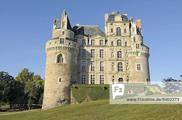Chateau Brissac Schloss  Brissac-Quince  Angers  Departement Maine-et-Loire  Pays de la Loire  Frankreich  Europa
