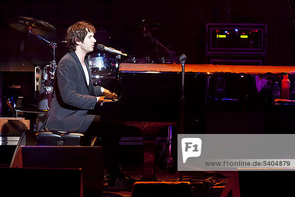 U.S. singer Josh Groban performing live in the concert hall of the KKL  Culture and Convention Centre  Lucerne  Switzerland  Europe