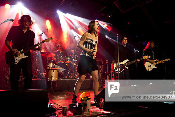 Swiss rock and pop band Redwood performing live in the Schueuer concert hall  Lucerne  Switzerland  Europe